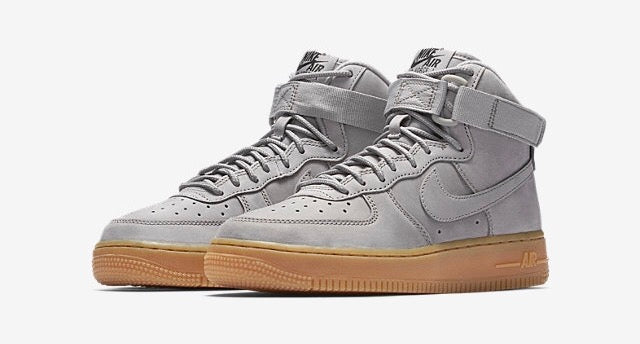 nike air force 1 high grey suede & gum